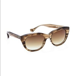 DITA Savoy Dark Brown Swirl Cat-Eye Sunglasses